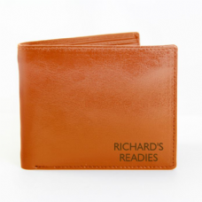Message Tan Leather Wallet